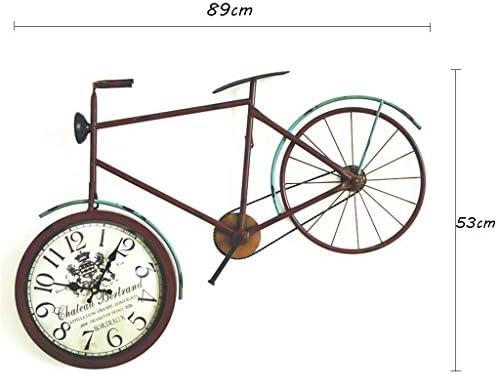 Reloj de Pared de Bicicleta Vintage, decoración de Hierro Forjado ...