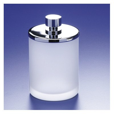 Accessories Cotton Swab Jar Finish: Chrome w/ Frosted Glass by Windisch by Nameeks