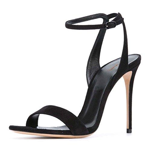 New Black High Heel Slingback - XYD Evening Sexy High Heel Stilettos Open Toe Dress Sandals Popular Slingback Shoes for Women Size 4 Black