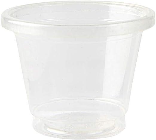 BIOZOYG Vaso compostable Chupito para Fiesta Transparente 100 ...