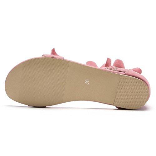 Sandales Rose Bout Ceinture Razamaza À Ouvert Boucle Pour À Basse Chaussures Femme Avec 4RTd7wxdq