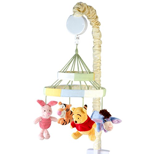 Mobile Musical Disney (Disney Winnie The Peeking Pooh Nursery Crib Musical Mobile, Yellow, Orange, Blue)