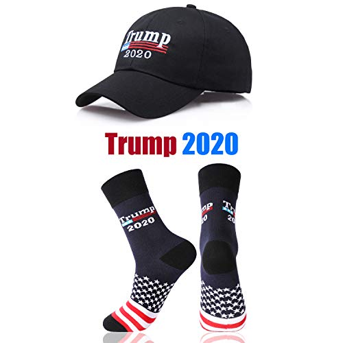 Make America Great Again Hat Donald Trump USA Cap with 2020 Socks from shinyis