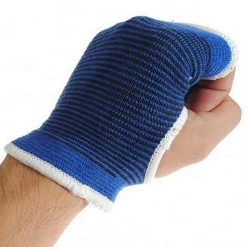 Sports Outdoor Elastic Palm Support Hand Guard 1 Pair Blue by omyBigDeal