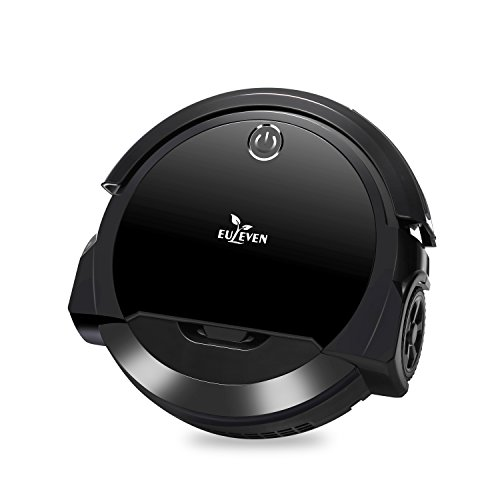 Euleven 3-in-1 Floor Robotic Vacuum with Smart Mopping Cleaner for Hardwood Floor, Short Carpet, HEPA Filter for Pet Hair Allergies Friendly (Black)