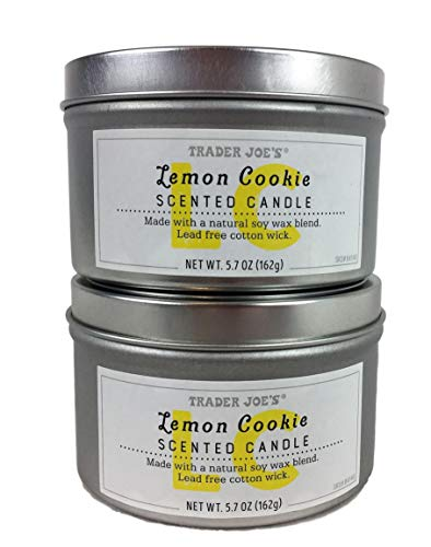 Trader Joe's - Lemon Cookie Scented Candle - 2-Pack