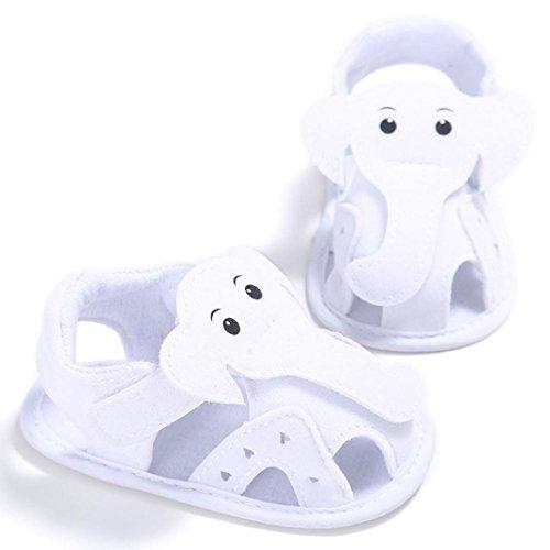 Tefamote Sandalias Zapatos de Suela Blanda Cuna Para Bebé Recién Nacido Niño niña Blanco