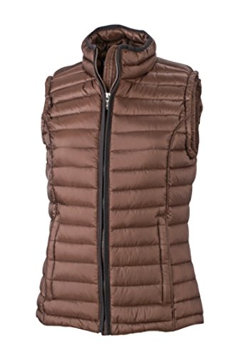 Women's Quilted Black Down Gilet Vest amp; Nicholson Coffee James JN1079 M FZWxwIEnq