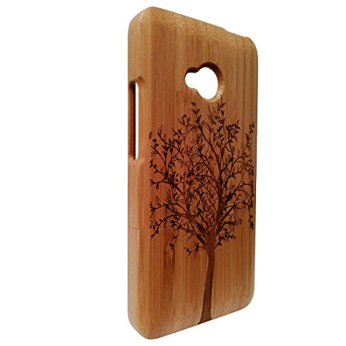 deluxe-htc-one-m7-bamboo-shell-100-natural-bamboo-skin-laser-engraving-trees-htc-one-m7-bamboo-case-
