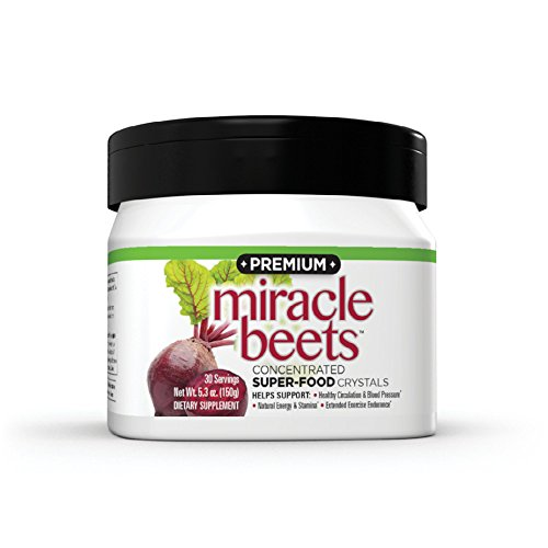 THINCARE PREMIUM Miracle Beets- Beet Root Powder Concentrate Supplement with Beet Crystals, Supports Circulation, Natural Energy, Blood Pressure,* No Artificial Sweeteners, Caffeine-Free, (5.3 oz.)