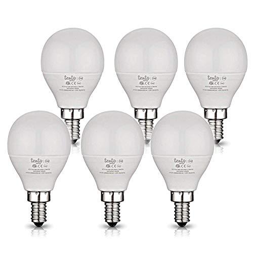 E12 LED Daylight Bulbs Bright White Ceiling Fan Light Bulbs 5000k - 6000k Candelabra Base 40 Watts Equivlent 5 Watts G14 LED Candelabra Bulb Non-Dimmable Ceiling Fan Replacement Bulbs