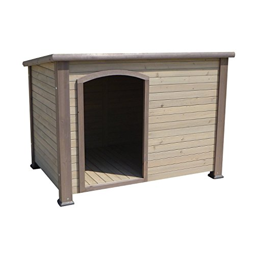 """Precision Pet Extreme Outback Log Cabin Dog House, Large, 45.5"""" x 33"""" x 32.8"""", Brown"""