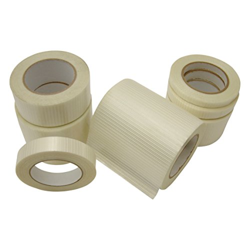 Opaque White Filament Reinforced - JVCC 762-BD Bi-Directional Filament Strapping Tape: 3/4 in. x 60 yds. / White (Opaque)