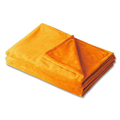 AmpleSky Duvet Cover for Weighted Blankets (48 Inch x 72 Inch) Orange