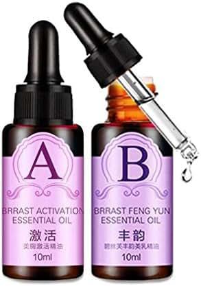 CYCTECH 2PC Natural Oils Essence Set Breast Enlargement Bust Massage Essential Oil Chest Lift Up Chest Firm (A+B)