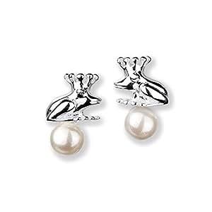 Heartbreaker LD FG 22 PW-W - Pendientes de mujer de plata de ley con perla sintética (2 perlas)