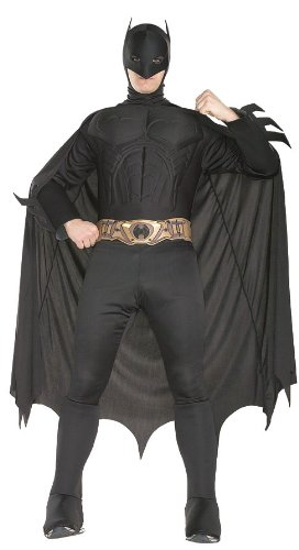 Bat Themed Costume (Rubie's Costume Deluxe Muscle Chest Batman Costume, Medium, Medium)