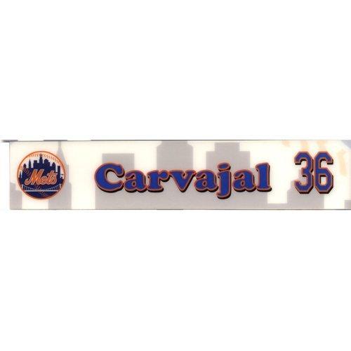 (Carvajal #36 Mets 2007 Authenticated Game Used Locker Room Nameplate)
