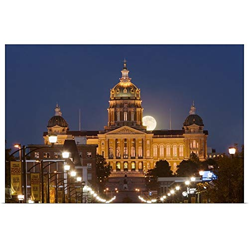 Iowa State Capitol Building - GREATBIGCANVAS Poster Print Entitled Facade of a Government Building, Iowa State Capitol, Des Moines, Iowa by 18