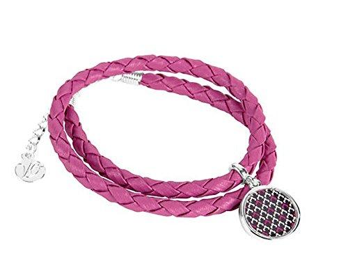Vera Bradley Women Braided Charm Bracelet (Canterberry Magenta)