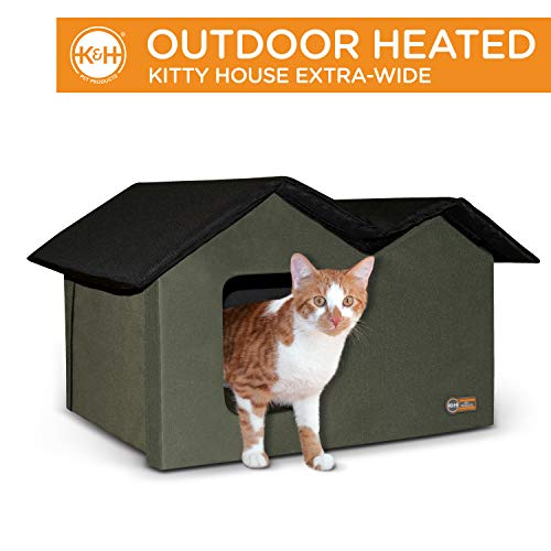 K&H Pet Products Outdoor Kitty House Extra-Wide (unheated)