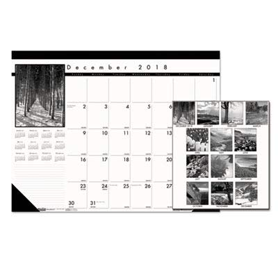 House of Doolittle Black-and-White Photo Monthly Desk Pad Calendar, 2010 Edition, 22 x 17 Inches, Black and White Photography (122) 2010 Monthly Desk Pad