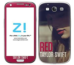 Zing Revolution Taylor Swift Premium Vinyl Adhesive Skin for Samsung Galaxy S 3, Red Album Image (MS-TS30415)