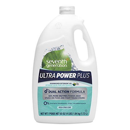 Seventh Generation Ultra Power Plus Auto Dish Gel, Fresh Citrus Scent, 65 Ounce by Seventh Generation