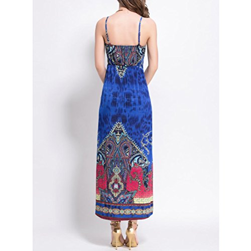 Zhhlinyuan Pregnancy Fashion Harness Long Dress Maternidad Summer Dress Beach Dress Colorful Blue