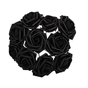 SSXY Fake Rose Lightweight Artificial Flowers Roses with Foam Multicolor Party Valentine's Day 35