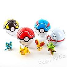 Kool KiDz Bounce Poke Monster poke ball Cosplay Pop-up Go Fighting Poke Ball Toy