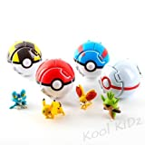 Kool KiDz Bounce Pokemon Pokeball Cosplay Pop-up Go Fighting Poke Ball Toy