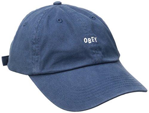 Obey Men's Jumble Bar Ii 6 Panel Hat, Navy, One Size
