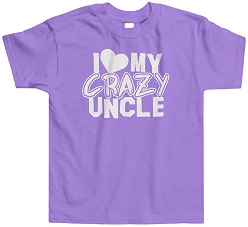 Threadrock Little Girls' I Love My Crazy Uncle Toddler T-Shirt 3T Lavender