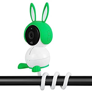 Twist Mount Compatible with Arlo Baby Camera, Flexible Gooseneck-Like Mount for Arlo Baby Camera - Attach Your Arlo Baby Camera Wherever You Like Without Any Tools - by Wasserstein (1 Pack, White)