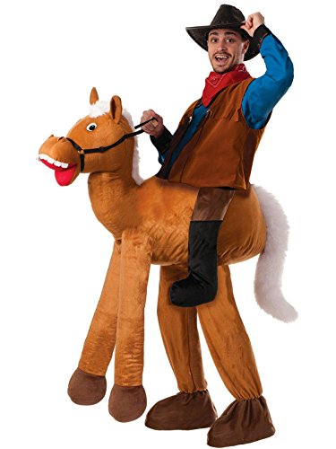 Forum Novelties Men's Ride A Horse Costume, Brown, Standard -
