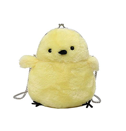 - JHVYF Women Cute Plush Crossbody Bag Small Chick Shoulder Purse Cell Phone Wallet Clasp Closure Bags with 45