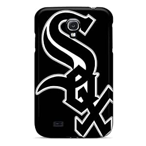NataliaKrause Samsung Galaxy S4 Shock Absorption Hard Cell-phone Cases Customized Trendy Chicago White Sox Pattern [iMC15088MdfU]