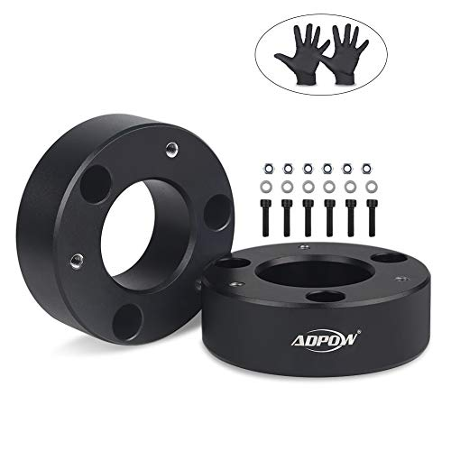 "3"" Front Leveling Lift Kit, ADPOW for Chevy Silverado 1500 2WD/4WD 2007-2019 GMC Sierra GM 1500 2WD/4WD Pickup 3""Front Silverado Lift Kits with Free Oil-proof Work Glove"