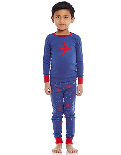 Leveret Airplane 2 Piece Pajama Set 100% Cotton 2 Years by Leveret (Image #1)