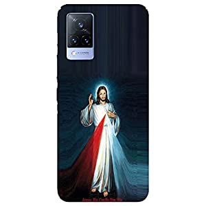 SmartNxt® Designer Printed Soft Plastic Mobile Cover for Vivo V21 5G  Spiritual  Multi-Coloured  Jesus Christ
