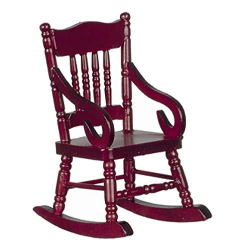 Melody Jane Dollhouse Mahogany Rocking Chair Rocker All Wood Miniature Furniture