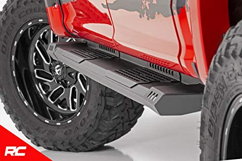 Rough Country HD2 Running Boards Compatible w/ 2007-2018 Chevy Silverado GMC Sierra Double Cab Truck Steps SRB071777 ()