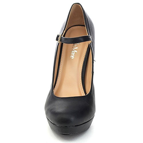 Tamika Bellamarie Women's Black Strap Lovely Platform Dress 33 Pump Ankle Shoes High 4gSqdg