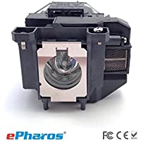 ePharos® Guaranteedd for One Year! Epson ELPLP67 / V13H010L67 Premium Replacement E-Series Cinema Projector Lamp with Housing