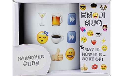 Emoji de resaca de curación.... FUN TAZA de porcelana 10 oz ...