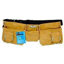 Task Tools 11372 Tuf-E-Nuf Carpenter's Apron with Nylon Belt, 3-Pocket