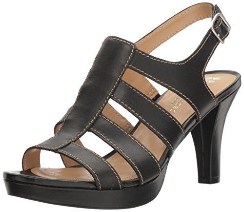 Naturalizer Women's Preya Platform Dress Sandal, Black, 8.5 M US (Dress Platform)