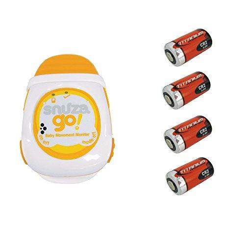 Snuza Go! Portable Baby Movement Monitor + 4 Extra Replaceme