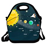 Amuseds SOLAR SYSTEM Characteristic Lunch Box Bag For Kids And Adult,lunch Tote Lunch Holder With Adjustable Strap For Men Women Boys Girls